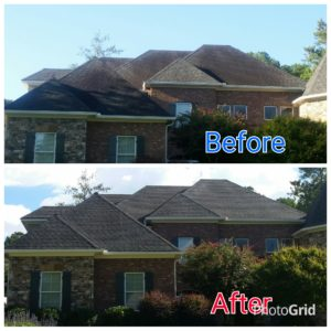 Roof Cleaning in Peachtree City Before & After