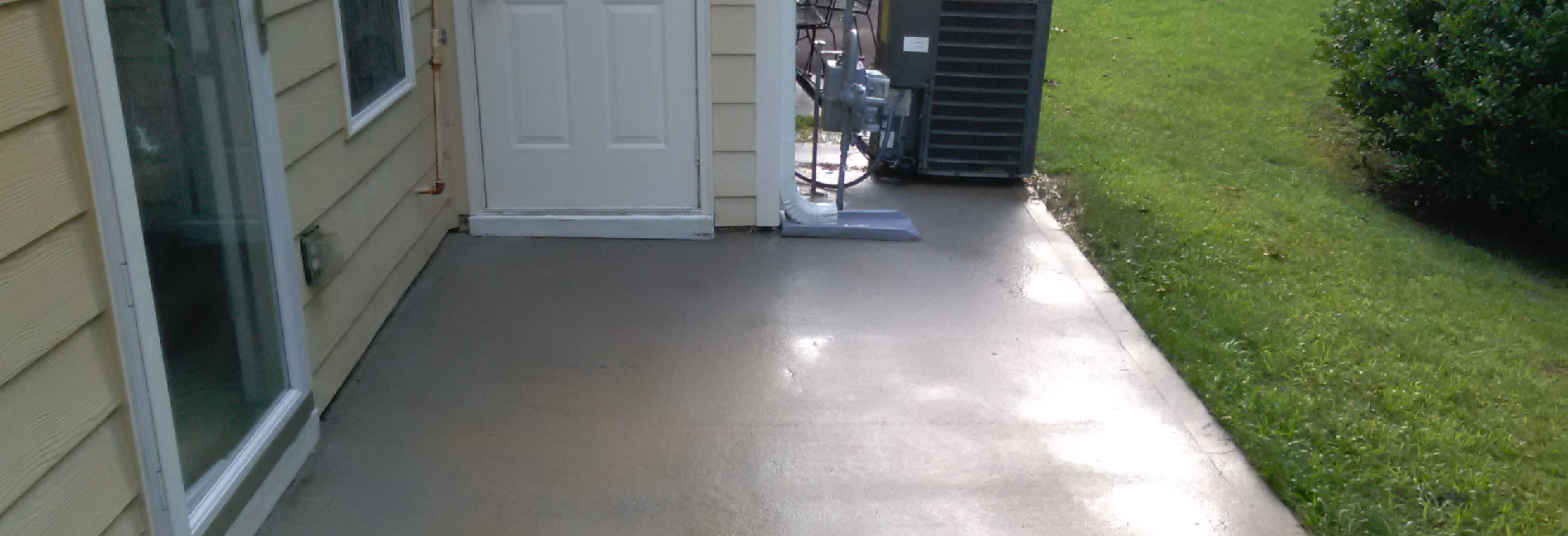 A clean patio after professional power washing